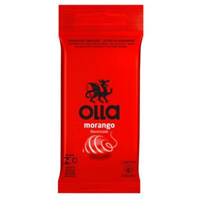 Imagem 1 do produto Preservativo Olla Morango 6 Unidades