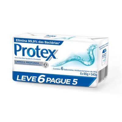 Sabonete Protex Limpeza Profunda Pack 90g