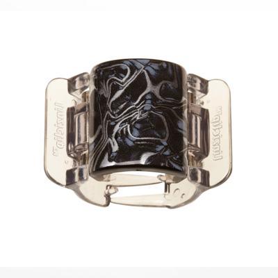 Prendedor de Cabelos Linziclip Core - Black - Grey Swirl Gloss