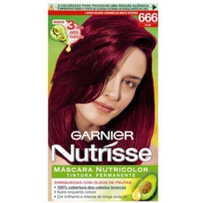 Imagem 1 do produto Tintura Garnier Nutrisse 666 Rubi Louro Escuro Avermelhado Muito Intenso