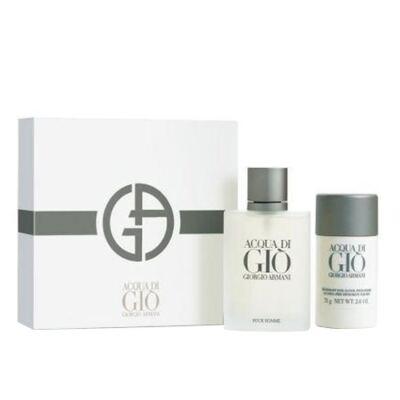 Imagem 1 do produto Acqua Di Gio pour Homme Giorgio Armani - Masculino - Eau de Toilette - Perfume + Desodorante - Kit