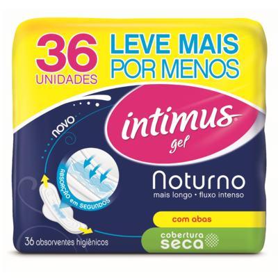Imagem 2 do produto Absorvente Intimus Gel Noturno Cobertura Seca C/Abas - 36unidades -
