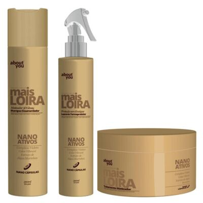 Kit Shampoo + Protetor Térmico + Máscara About You Mais Loira - Kit