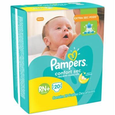 Imagem 9 do produto Fralda Pampers Confort Sec Tamanho RN - 20 unidades