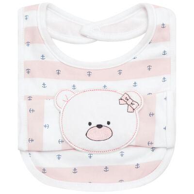 Babador com fraldinha de boca Pink Captain - Classic for Baby