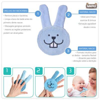 Imagem 2 do produto Luva para cuidado oral Oral Care Rabbit (0m+) Girls - MAM