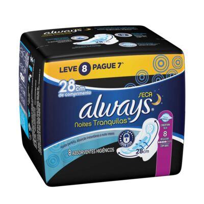 Imagem 1 do produto Absorvente Always Noturno Malha Seca Com Abas 8 Unidades