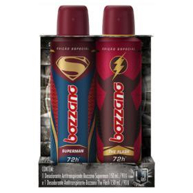 Kit 2 Desodorante Aerosol Bozzano Superman + The Flash 90g