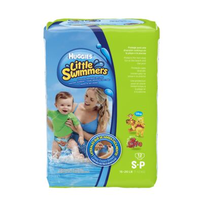 Fralda Descartável Little Swimmers Piscina P 12 Unidades