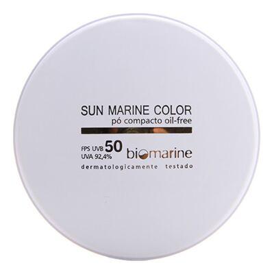 Imagem 1 do produto Sun Marine Color Compacto FPS50 Biomarine - Pó Compacto 12g - Chocolate