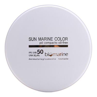 Imagem 1 do produto Sun Marine Color Compacto FPS50 Biomarine - Pó Compacto 12g - Bronze