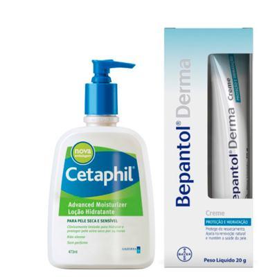 Bepantol + Cetaphil Derma Creme + Loção Hidratante Kit - Creme + Loção Hidratante - Kit