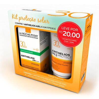 Kit Protetor Solar La Roche-Posay FPS30 Anthelios Airlicium 50g + XL-Protect 120ml
