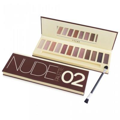 Imagem 1 do produto Paleta de Sombras Nude Glamour 02 Vivai - 12 Cores