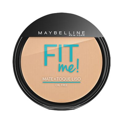 Maybelline Pó Compacto Mate + Toque Liso Fit Me! Cor 110 Claro Real