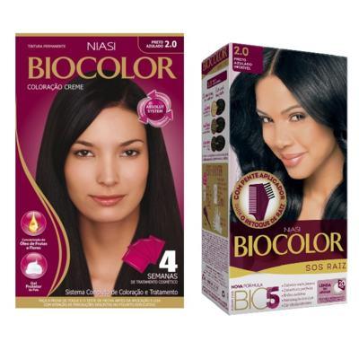 Imagem 1 do produto Tintura Biocolor 2.0 Preto Azulado + Tintura Biocolor S.O.S Raiz Preto Azulado 2.0