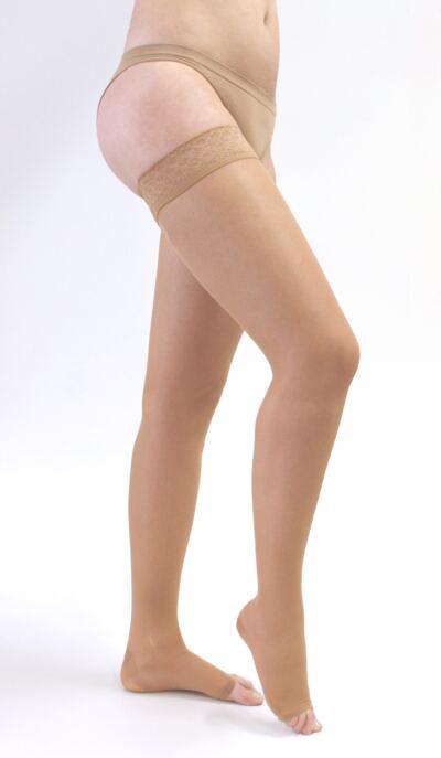 Imagem 2 do produto Meia Coxa 20-30 mmHg Sheer & Soft Medi - NATURAL IV PONTEIRA ABERTA