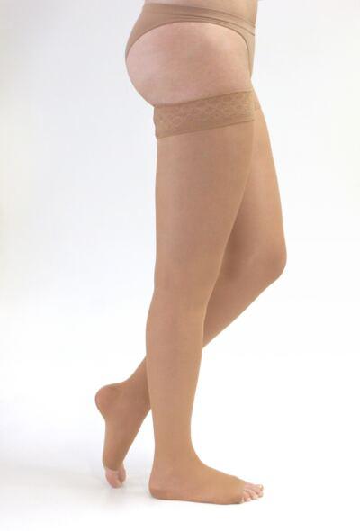 Imagem 1 do produto Meia Coxa 20-30 mmHg Sheer & Soft Medi - NATURAL VII PONTEIRA ABERTA