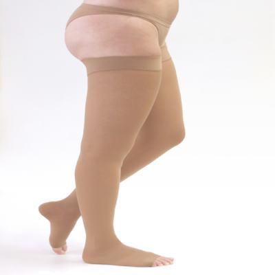 Imagem 1 do produto Meia Coxa 20-30 mmHg Assure Medi - BEGE G PONTEIRA ABERTA