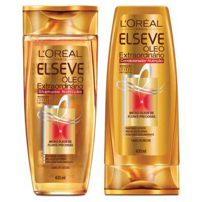 Imagem 1 do produto Kit Elseve Óleo Extraordinário Nutrição Shampoo 400ml + Condicionador 400ml