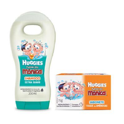 Imagem 1 do produto Shampoo Turma da Mônica Suave 200ml + Sabonete Turma da Mônica Huggies Hidratante 75g