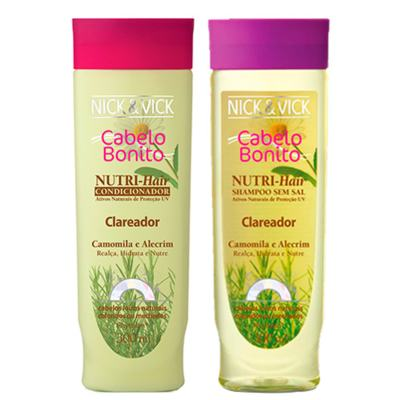 Kit Shampoo + Condicionador Nick & Vick Nutri-Hair Clareador - Kit