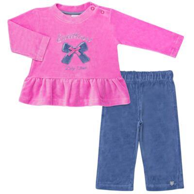 Bata c/ Calça para bebe em plush Sweetheart - Baby Classic - 976891.186 CONJUNTO BATA COM CALÇA PLUSH PINK-M