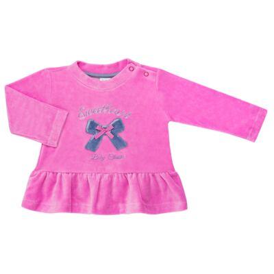 Imagem 2 do produto Bata c/ Calça para bebe em plush Sweetheart - Baby Classic - 976891.186 CONJUNTO BATA COM CALÇA PLUSH PINK-M