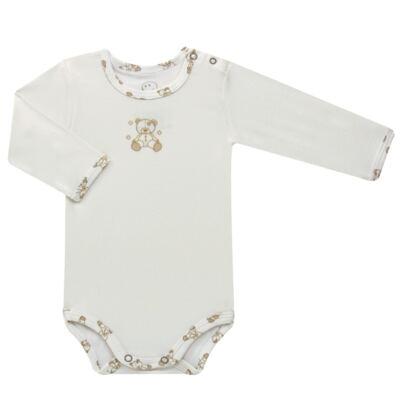 Imagem 2 do produto Body longo c/ Calça para bebe em suedine Ivory Bear - Dedeka - DDK16501/E100 Conjunto de Body Suedine Urso Bege -G