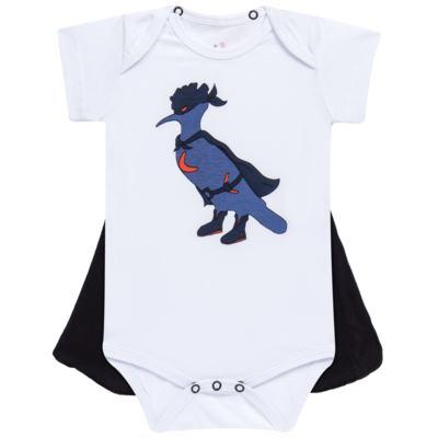 Imagem 1 do produto Body curto c/ Capa para bebe Justiceiro - Reserva Mini - RM23182 MACAQUINHO BB C CAPA PICA PAU JUSTICA-M
