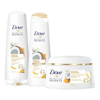 Imagem 1 do produto Kit Dove Ritual de Reparaçã Shampoo + Condicionador 400ml + Creme de Tratamento 350g