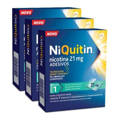 Imagem 1 do produto Kit Niquitin 21mg 21 Adesivos Transparentes
