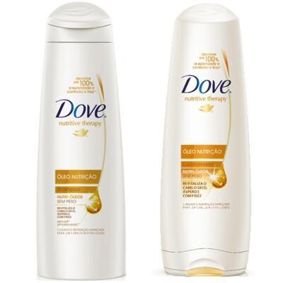 Imagem 1 do produto Kit Dove Óleo Nutrição Shampoo 400ml + Condicionador 400ml