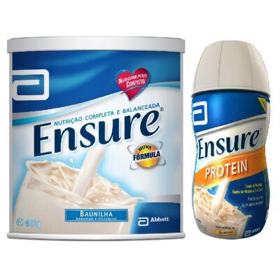 Complemento Alimentar Ensure Baunilha 400g + Protein Baunilha 220ml