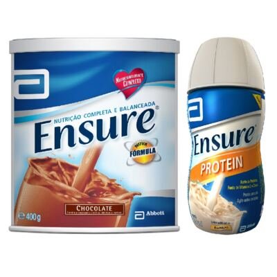 Complemento Alimentar Ensure Chocolate 400g + Ensure Protein Baunilha 220ml