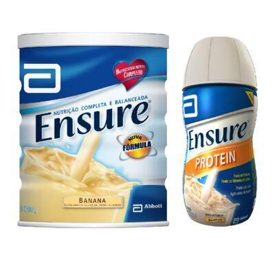 Imagem 1 do produto Complemento Alimentar Ensure Banana 900g + Protein Baunilha 220ml