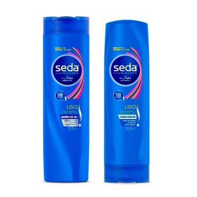 Imagem 1 do produto Kit Seda Liso Extremo Shampoo + Condicionador 325ml Grátis Creme de Tratamento