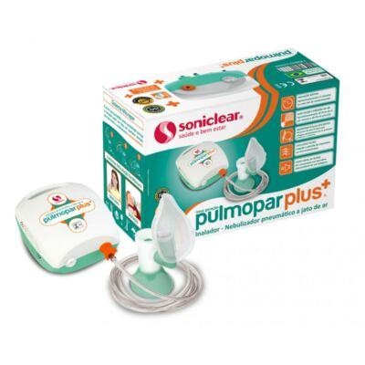 Imagem 2 do produto Kit Inalador Pulmopar Plus Nova Geração + Soro Fisiológico ADV Cloreto de Sódio 10 Ampolas
