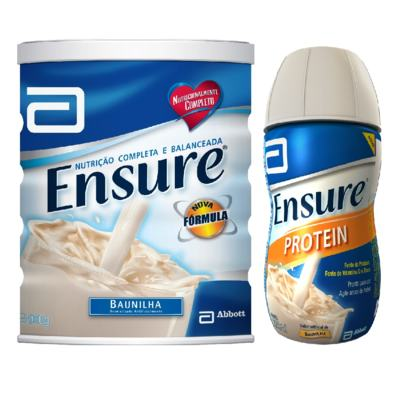 Complemento Alimentar Ensure Baunilha 900g + Ensure Protein Baunilha 220ml