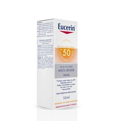 Imagem 1 do produto Protetor Solar Facial Eucerin - Sun Fluido Anti-Idade FPS 50 - 50ml