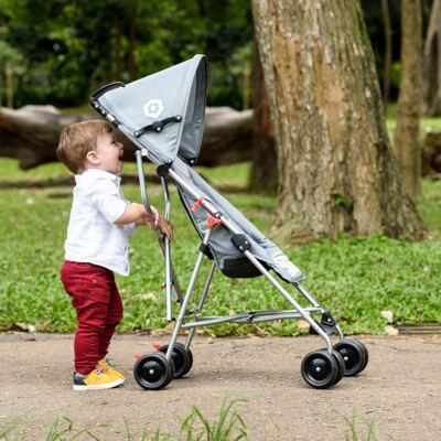 Imagem 6 do produto Carrinho de Bebê Guarda-chuva Weego Way Cinza