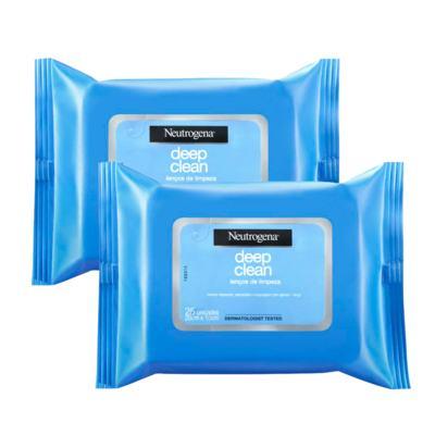 Kit 2 Lenço de Limpeza Facial Demaquilante Neutrogena 50 Unidades