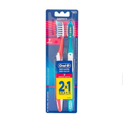 Imagem 2 do produto Kit Oral-B 2 Escovas Pró-Saúde 7 Benefícios 40 + Fio Dental Flexível Hastes 75 Unidades
