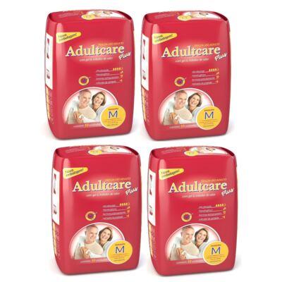 Fralda Geriátrica Adultcare M 10 Unidades 4 Pacotes