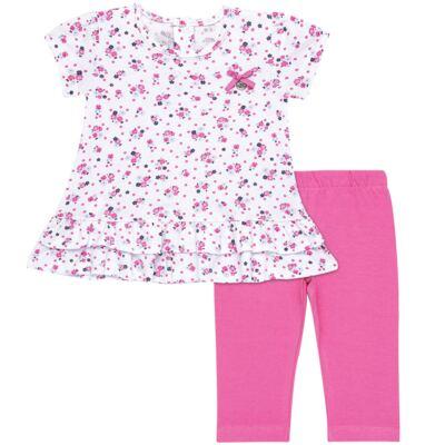 Imagem 1 do produto Bata com Legging para bebe em cotton Tropical - Vicky Lipe - 18620001.53 CONJ.BATA C/LEGGING - COTTON-P