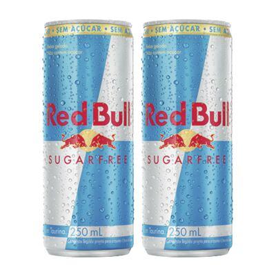 Imagem 1 do produto Kit Energético Red Bull Sugar Free 250ml 2 Unidades