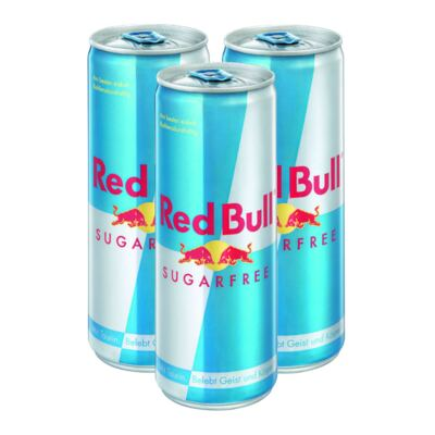 Kit Energético Red Bull Sugar Free 250ml 3 Unidades