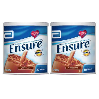 Imagem 3 do produto Complemento Alimentar Ensure Chocolate 400g 2 Unidades