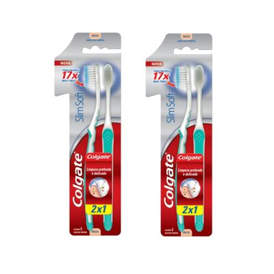 Escova Colgate Cabo Ultra comprimido Leve 2 Pague 1 - 2 Packs