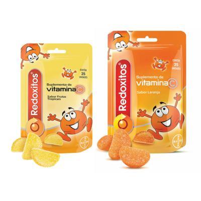 Imagem 1 do produto Redoxitos Frutas Tropicais Bayer 25 Unidades + Redoxitos Laranja Bayer 25 Unidades